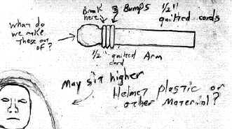 Design drawing for Saucerman arm - detail